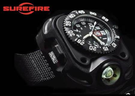 SUREFIRE LUMINOX WRISTLIGHT   WATCH - RECHARGEABLE