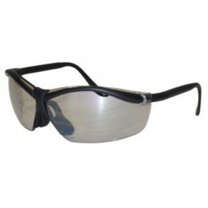 Lt. Silver Mirror Lenses, Black Frame