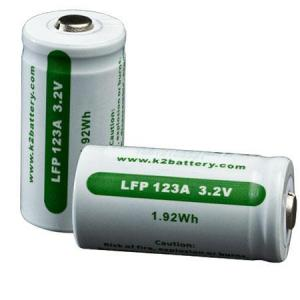 2 Lfp123 Li-Fe-Ph Rechargeable Cells, Carded