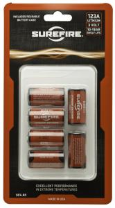 6 Sf123A Batteries with Holder In Clamshell Package